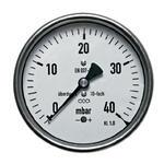 """Manometr pro nízké tlaky MKZ 160mm 1/2"""" 0-40mbar"""