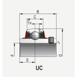 Ložisko UC308 Asahi - 2