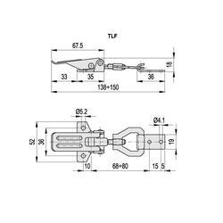 Třemnový uzávěr TLFZ-24/138-150+R pozink - 2