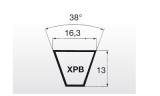 Klínový řemen XPB 3000Lw 16,3x3022La Linea X - 2