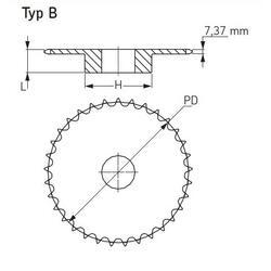 Kolo řetězové jednořadé s nábojem 20 zubů PHS 08B-1B20 - 2