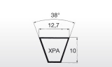 Klínový řemen XPA 1057Lw 12,7x1075La Linea X - 2
