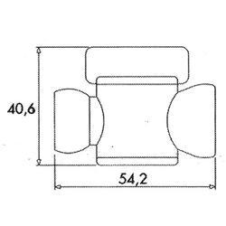 """1/2"""" mezi segmentový ventil 1/2"""" - 2"""