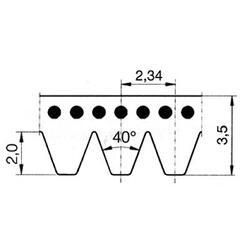 Drážkový řemen J-1089 Poly-V guma - 2