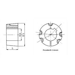 Pouzdro upínací TB5050-110 Taper Lock - 2