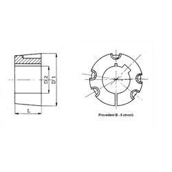 Pouzdro upínací TB4535-125 Taper Lock - 2