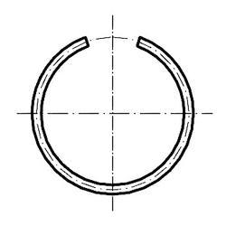Kroužek pojistný drátěný do díry 10, DIN7993B - 2