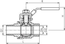 Rozměry kulového ventilu