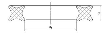 X-kroužek nákres