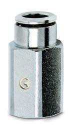 Šroubení nástrčné přímé, vnitřní závit 6463-5-M5