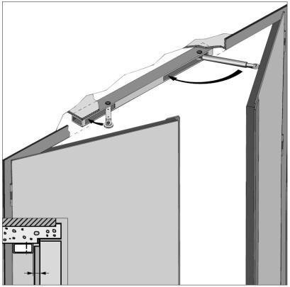 Koordinátor zavírání dveří SR 2000 EL, 1050mm s elektromagnetickou aretací